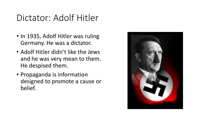 was hitler a weak dictator? essay Not many of you might have though about it, because hitler was very successful, but there are some reasons to why he could have been a weak dictator as.