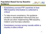 population based survey baseline guidance