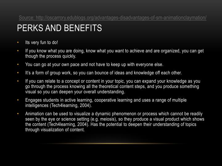 Perks and benefits