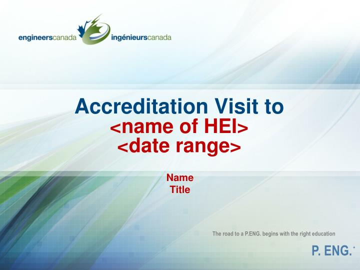 accreditation visit to name of hei date range n.