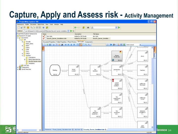 Capture, Apply and Assess risk