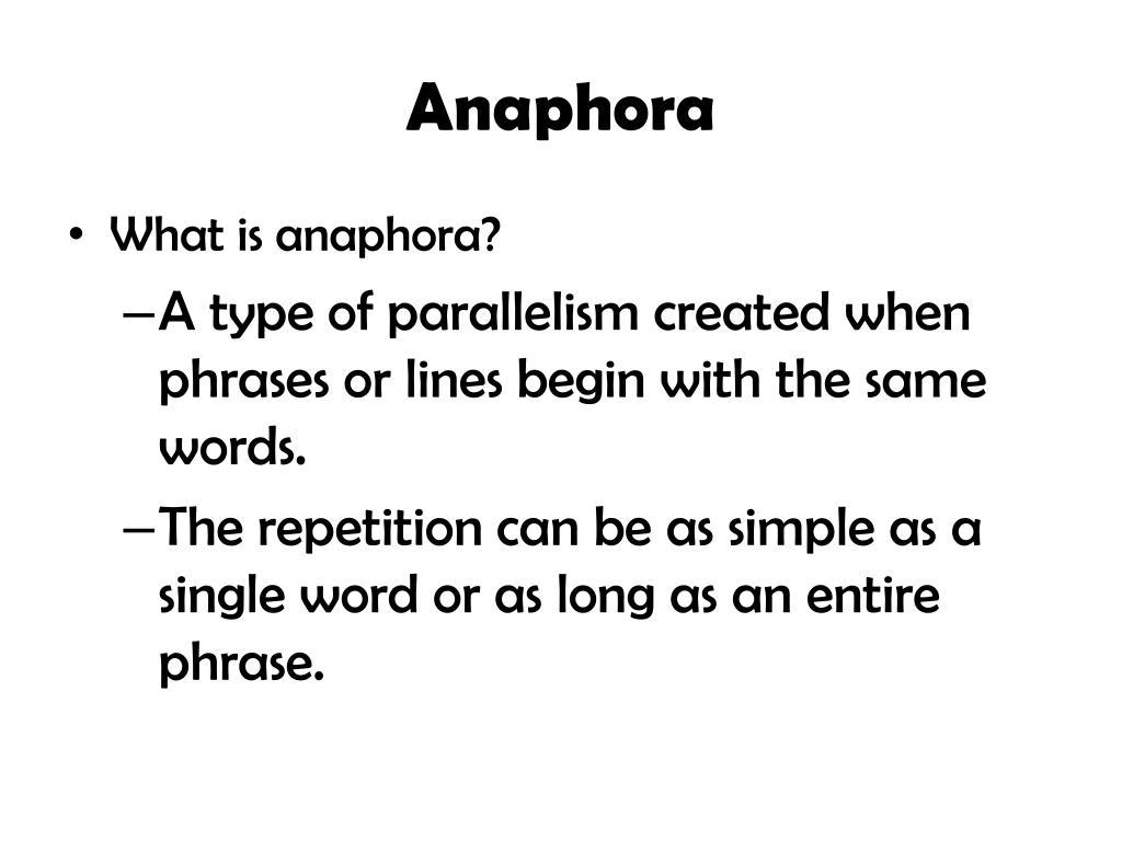 ppt anaphora powerpoint presentation id 2867125