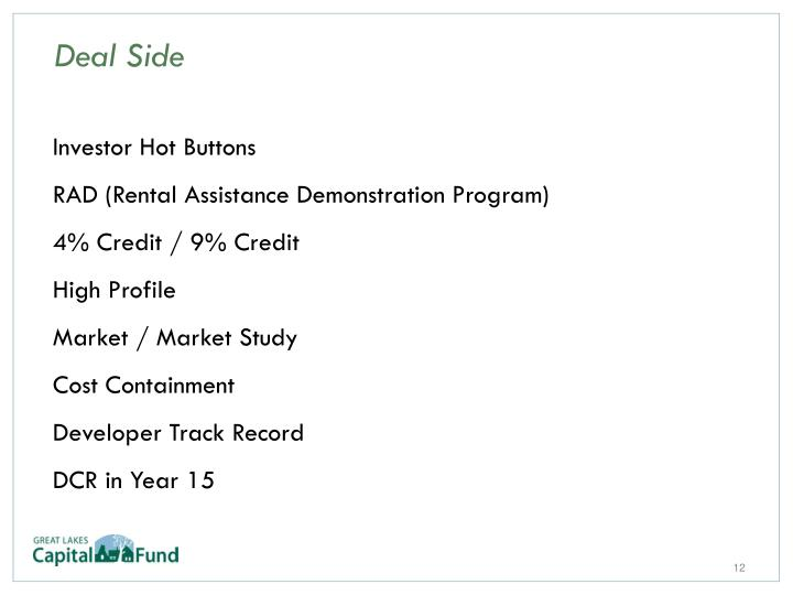 Investor Hot Buttons