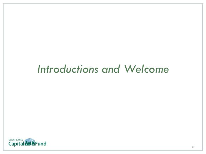 Introductions and welcome