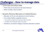 challenges how to manage data