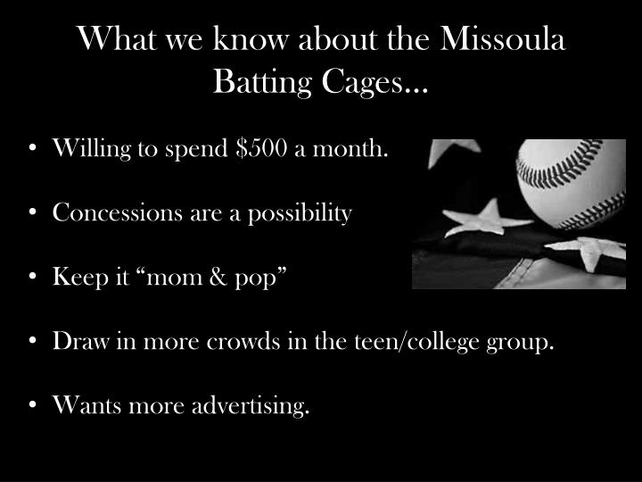 What we know about the missoula batting cages