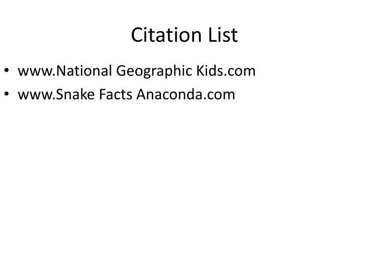 Citation List