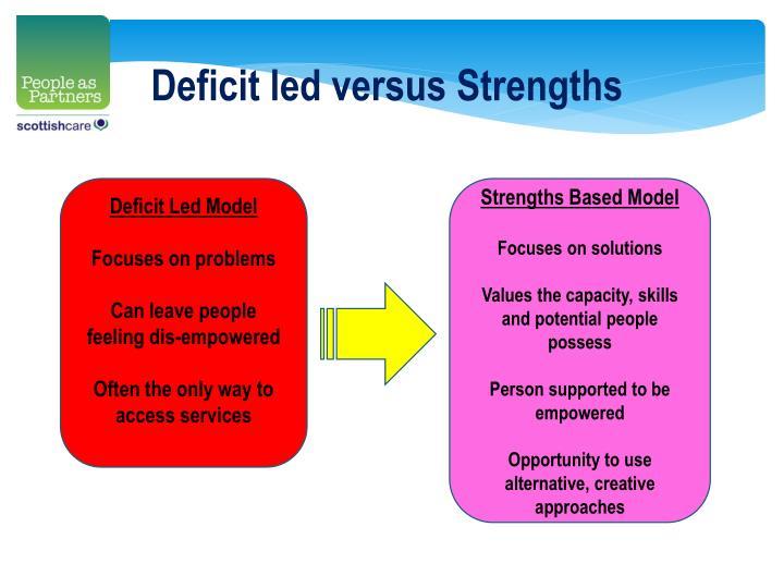 Deficit led versus Strengths