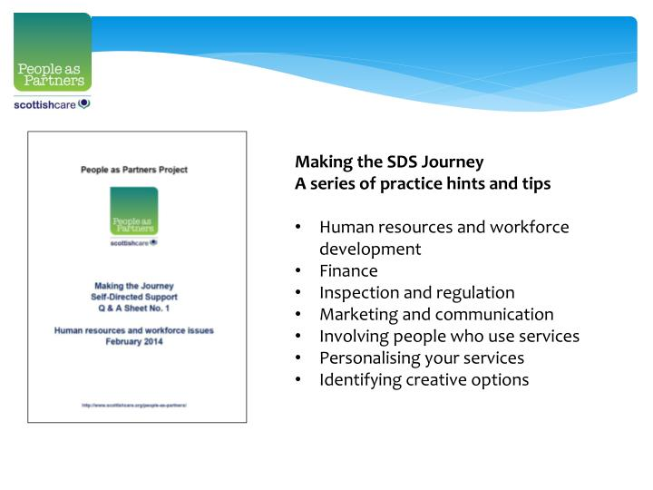 Making the SDS Journey