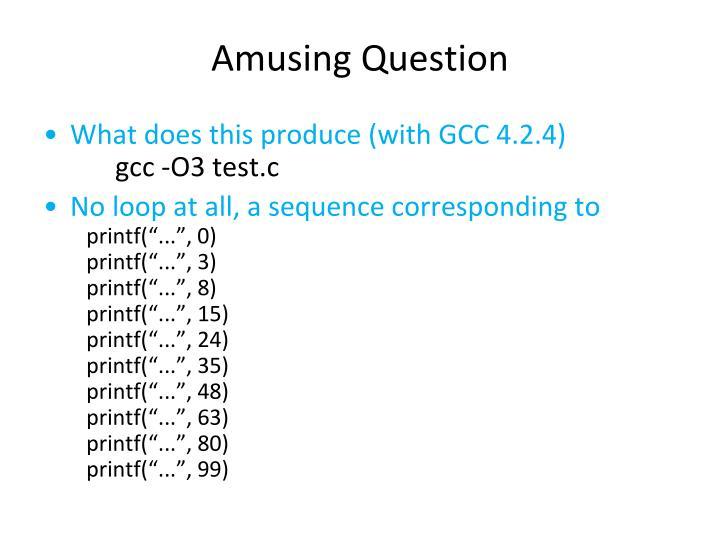 Amusing Question