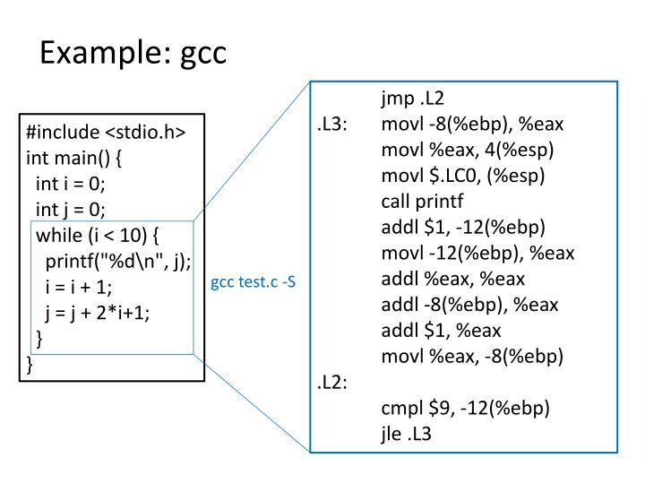 Example gcc
