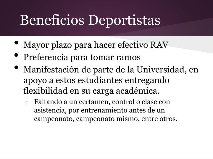 Beneficios Deportistas