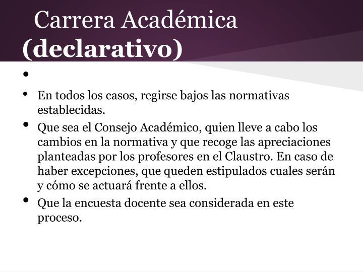 Carrera Académica