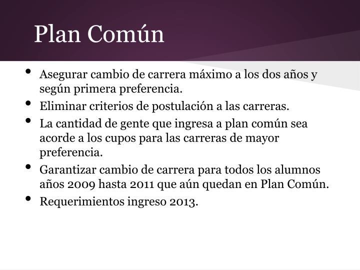 Plan Común