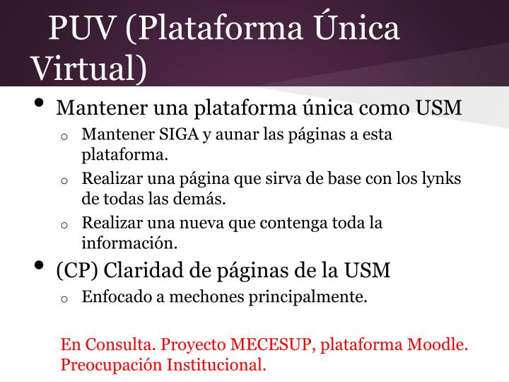 PUV (Plataforma Única Virtual)