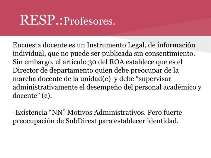 RESP.: