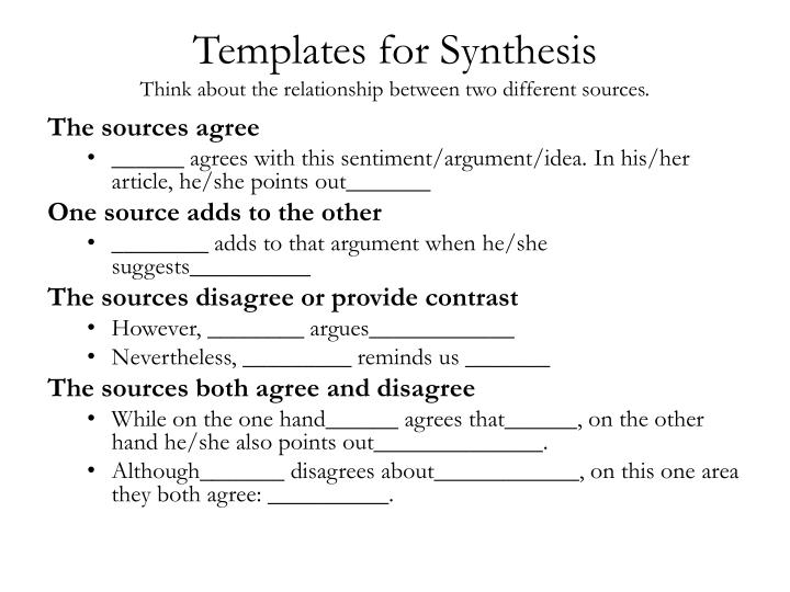 Templates for Synthesis