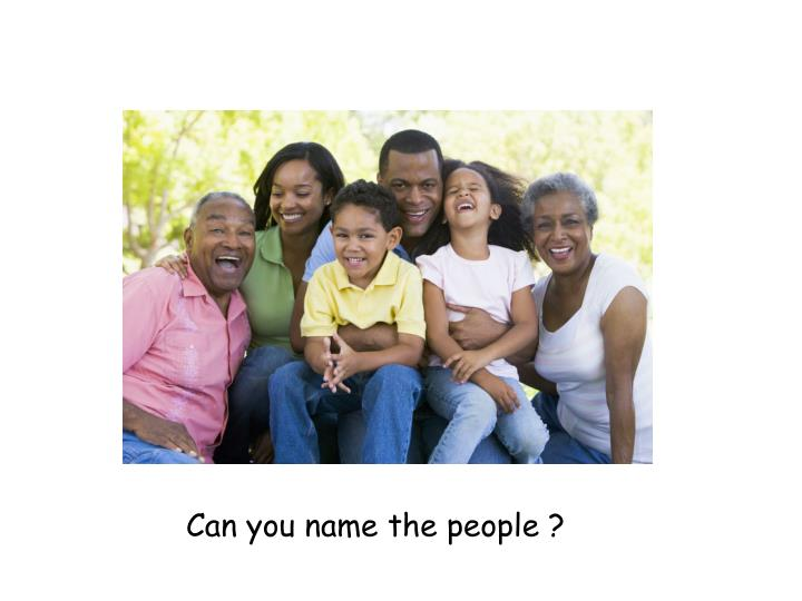 Can you name the people ?