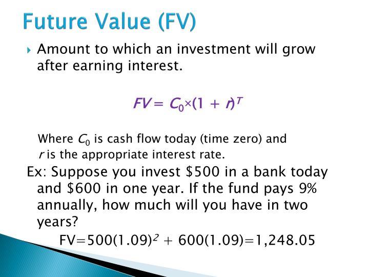 Future value fv