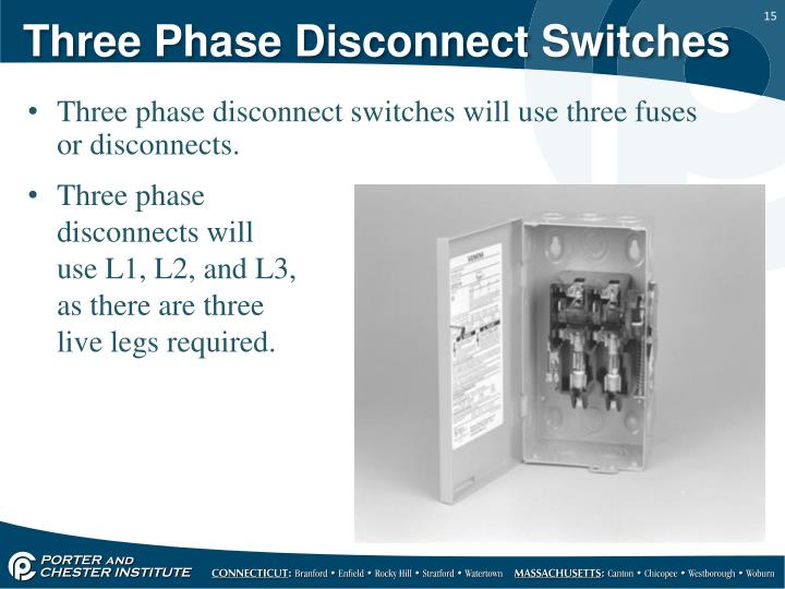Three Phase Disconnect Switches