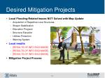 desired mitigation projects