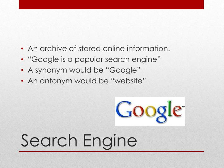 An archive of stored online information.