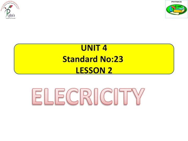 unit 4 standard no 23 lesson 2