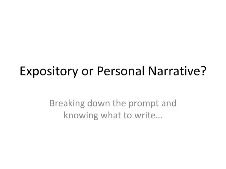 difference between an expository essay and a narrative essay What is the difference between an expository essay and a narrative (north carolina state university mfa creative writing.