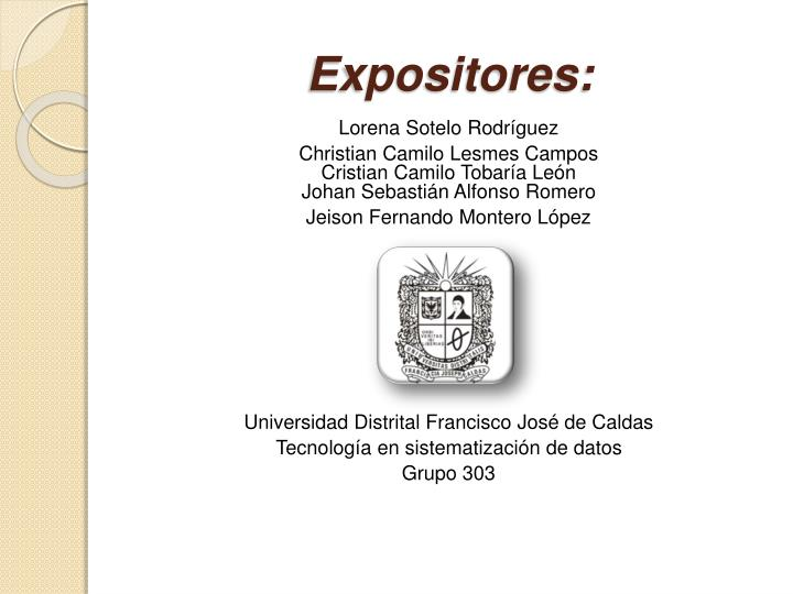 expositores n.