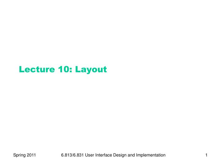 lecture 10 layout n.
