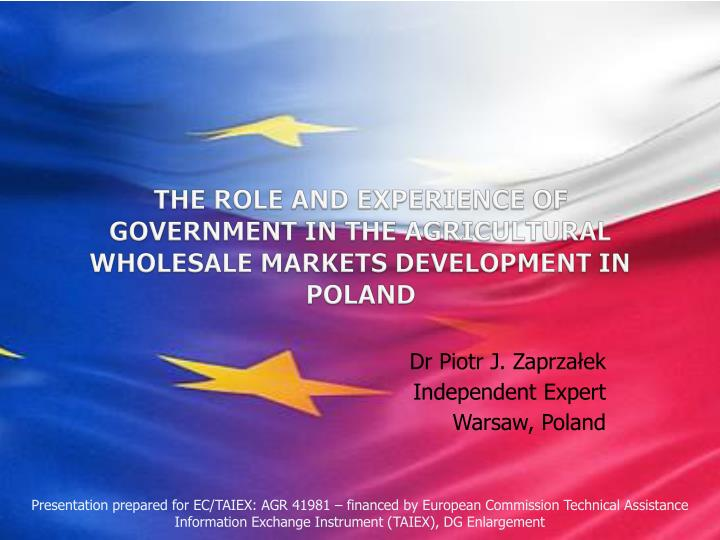 The role and experience of government in the agricultural wholesale markets development in poland