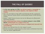 the fall of quebec