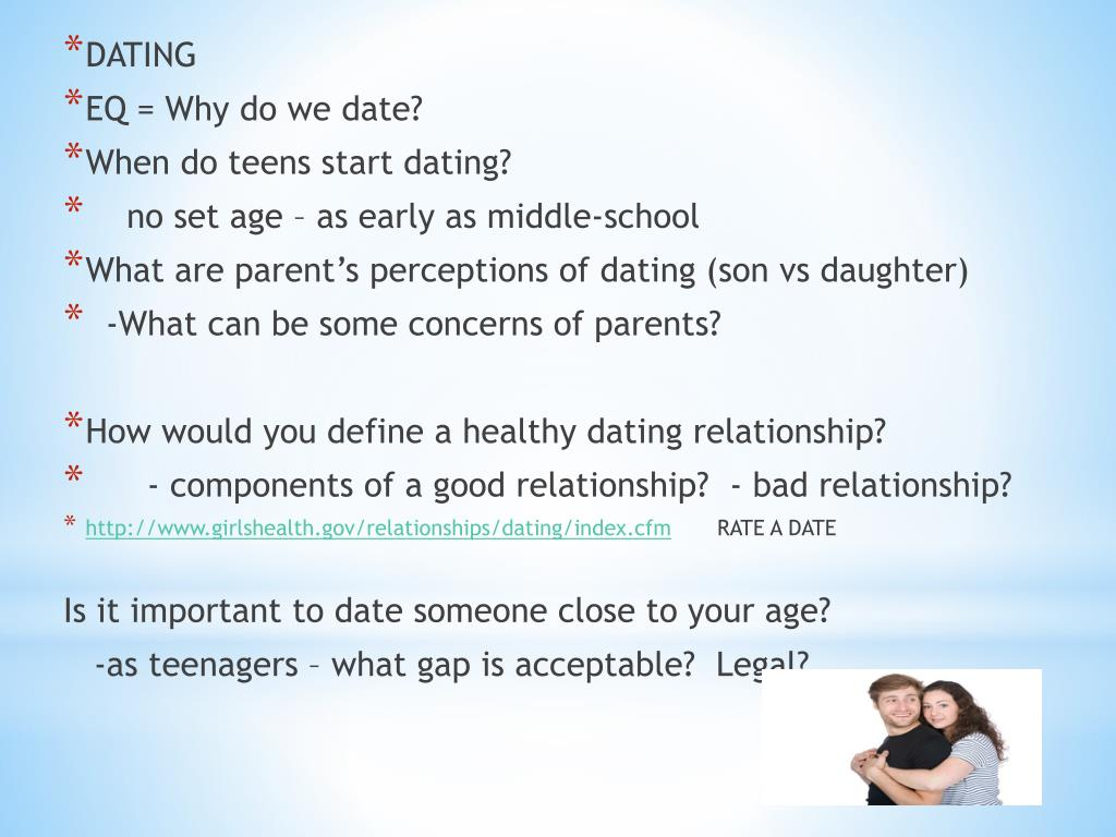 what is the recommended age to start dating