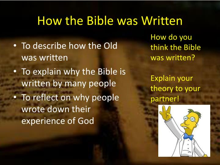 how do the writers of the bible explain the concept of god as creator thomas hurley philosophy homework questions explain how the bible shows god as creator (25 marks) in the bible god explain the judeo-christian concept of god.