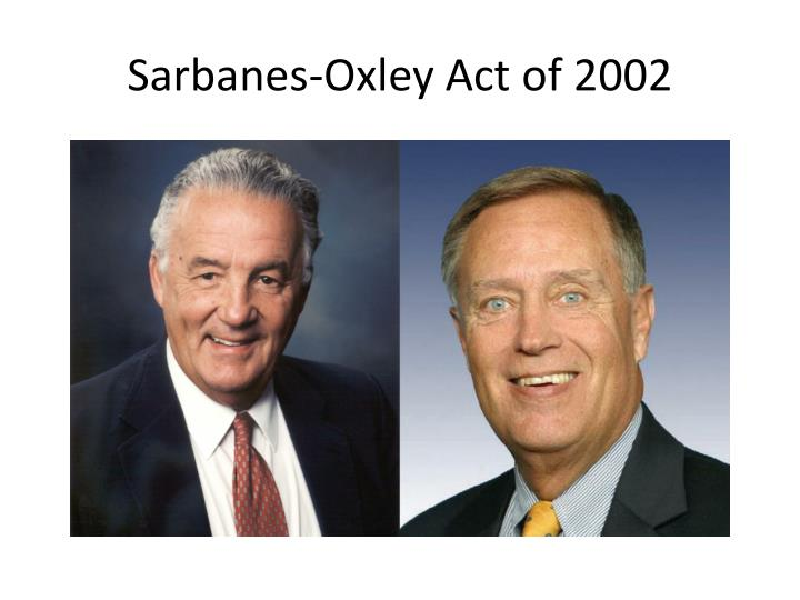 essay on sarbanes-oxley act of 2002 The sarbanes-oxley act of 2002 this research paper the sarbanes-oxley act of 2002 and other 64,000+ term papers, college essay examples and free essays are available now on reviewessayscom.