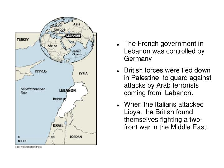 The French government in Lebanon was controlled by Germany