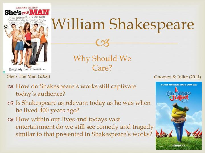 why is shakespeare relevant today