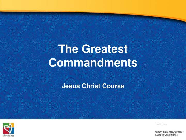 the greatest commandments n.