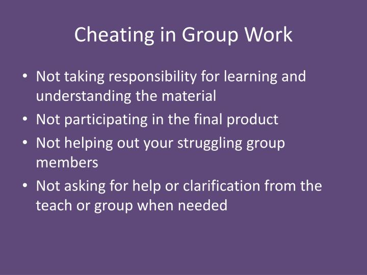 Cheating in Group Work