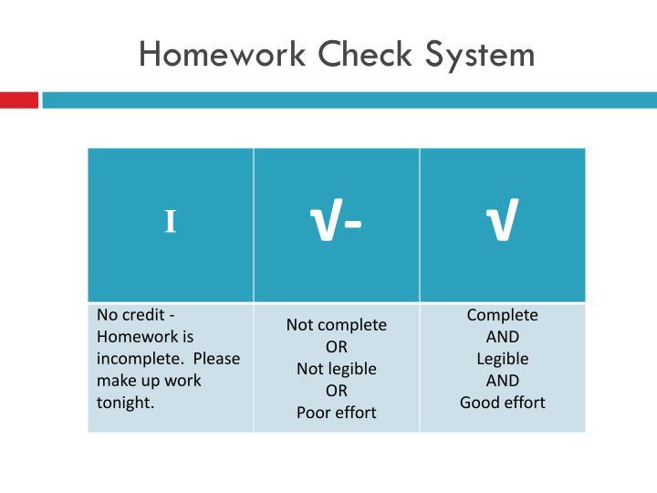 Homework Check System