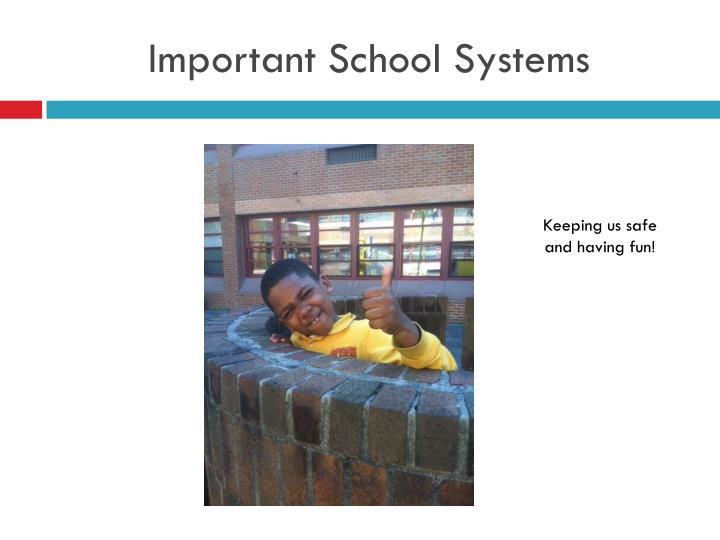 Important School Systems