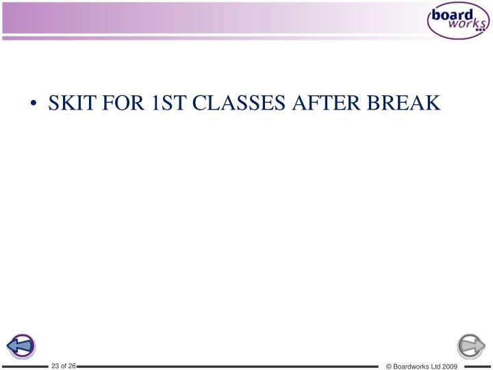 SKIT FOR 1ST CLASSES AFTER BREAK