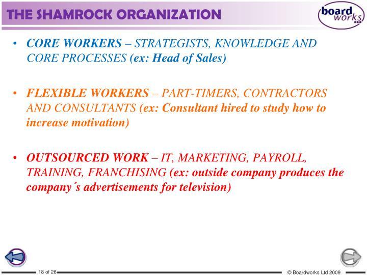 THE SHAMROCK ORGANIZATION