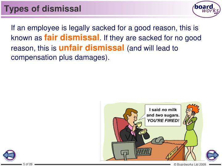 Types of dismissal