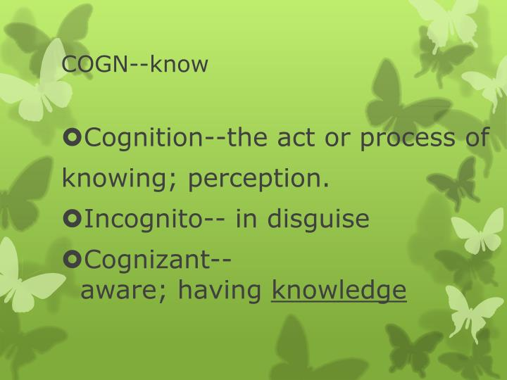 Cogn know