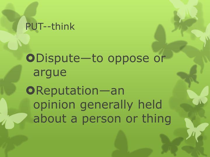 Put think