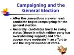 campaigning and the general election