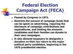 federal election campaign act feca