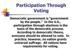 participation through voting