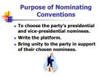 purpose of nominating conventions